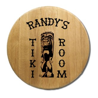 Tiki Room Barrel Head Sign