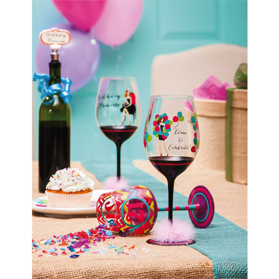Time to Celebrate XL Wine Glasses (set of 2)