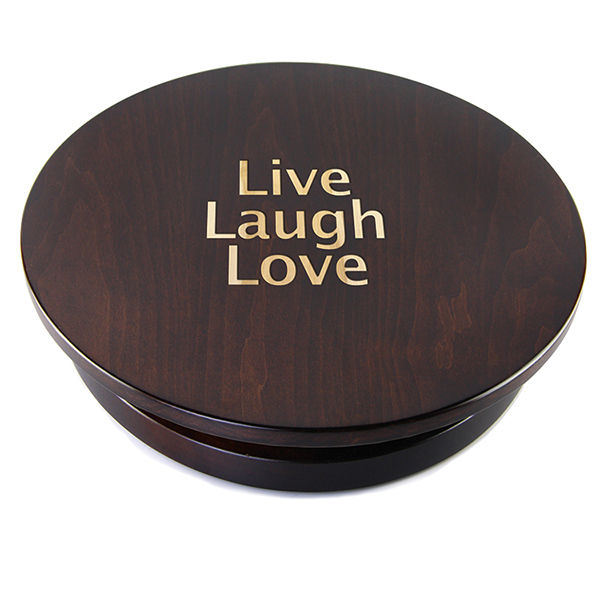 Personalized Tobacco Brown Lazy Susan, 16""