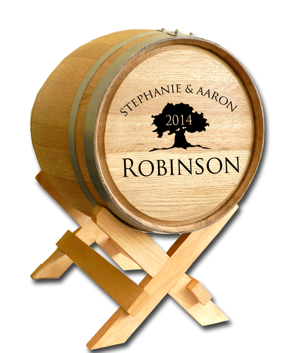 Wedding Wine Barrel Card Holder - Tree of Life