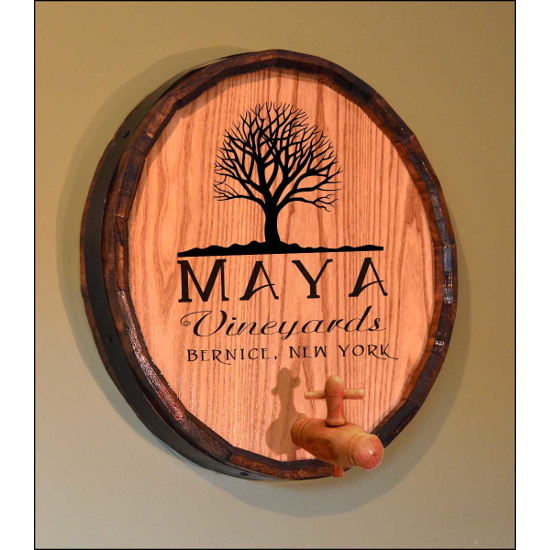 Personalized Tree of Life Quarter Barrel Sign
