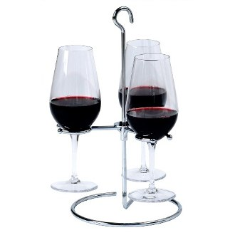 Trio Wine Flight Glasses Holder
