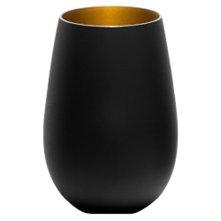 Noir Stemless Gold Interior Set of 6