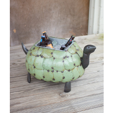 Recycled Metal Tortoise Planter Of Cooler