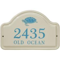 Sea Turtle Ceramic Arched Address Plaque