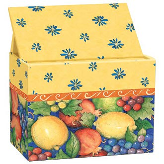 Tuscan Fruit Recipe Card Box
