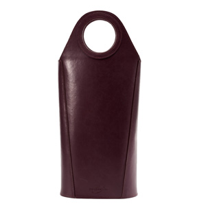 2 Bottle Wine Tote, Eggplant