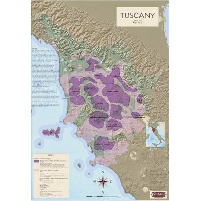 Tuscany Wine Regions Map