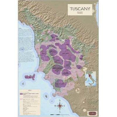 Tuscany Wine Regions Map