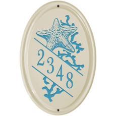 Starfish Ceramic Vertical Address Plaque