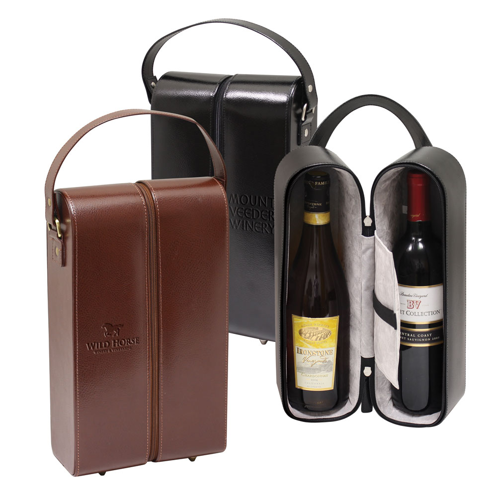Vineyard Leather Wine Carrier for 2 Bottles