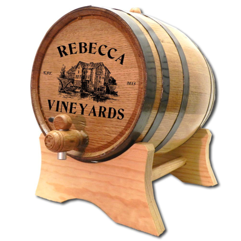Personalized Vineyards White Oak Aging Barrel