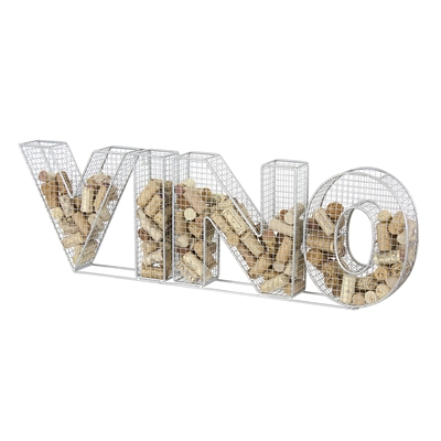 Vino Metal Cork Collector, Silver