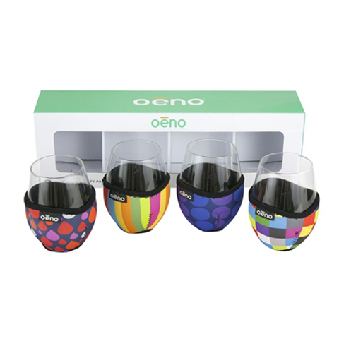 Vino Hugs and Glasses Party Pack (set of 4 each)