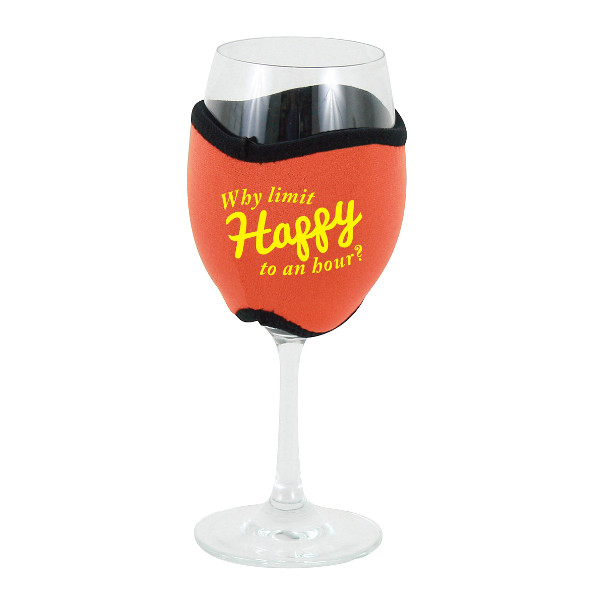 Neoprene Insulating Wine Glass Hug, Why Limit Happy Hour
