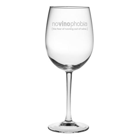 NoVinoPhobia Wine Glasses (set of 4)
