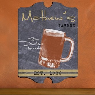 Vintage Personalized Mug Tavern Sign