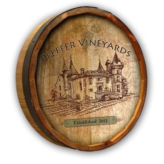 Personalized Vintage Vineyard Quarter Barrel Sign