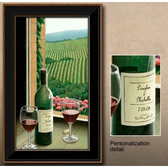 Vineyard Personalized Framed Wine Art Print