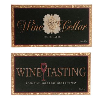 Prestige Wine & Good Wine Tasting Wall Canvas (set of 2)