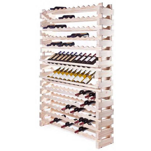 144 Bottle Modular Wall Unit Wine Rack - Natural