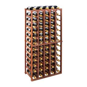 N'FINITY Stackable 4 Foot Wine Rack - 5 Column, Walnut