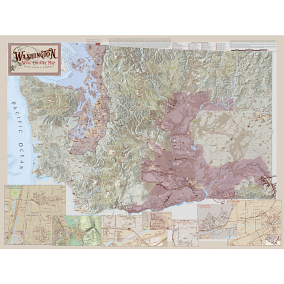 Wine Regions of Washington State Wine Map, 4th Edition