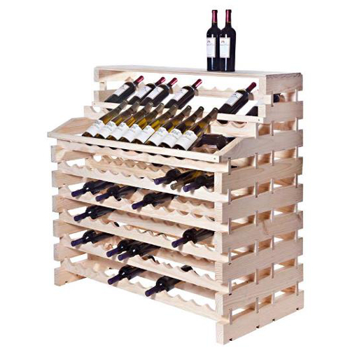 156 Bottle Waterfall Style Deluxe Modular Wine Rack - Natural