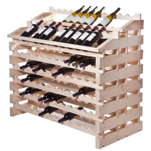 156 Bottle Waterfall Style Modular Wine Rack - Natural