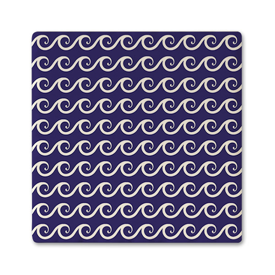 Wave Pattern Ceramic Beverage Coaster