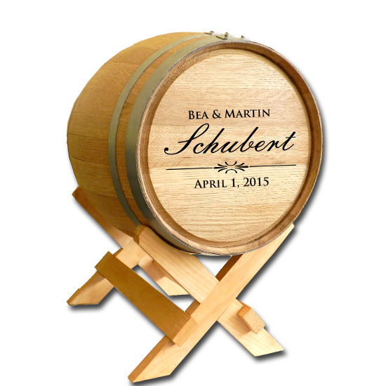White Oak Wedding Barrel - 5 Gallon