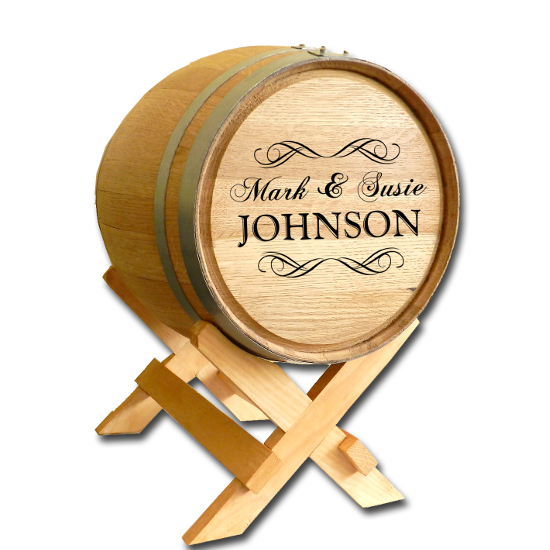Wine Barrel Card Holder - 5 Gallon