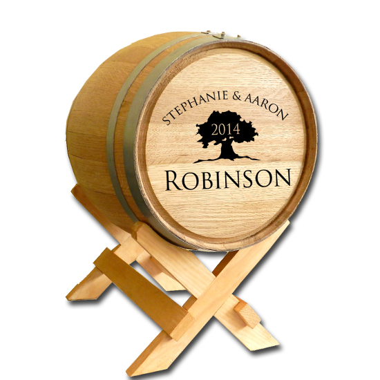 Tree of Life Personalized Oak Barrel
