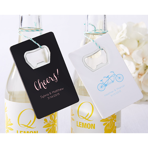 Customized Wedding Credit Card Bottle Openers (set of 36)