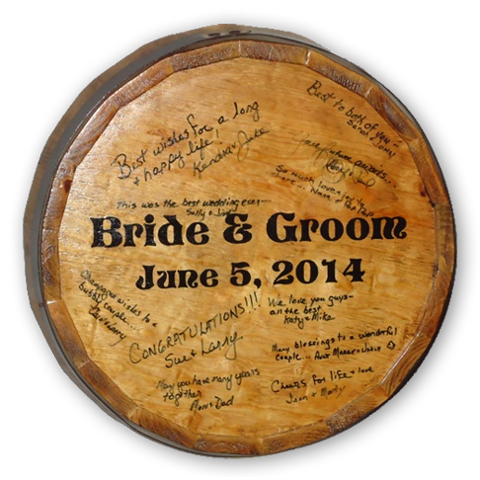 Personalized Wedding Signature Quarter Barrel