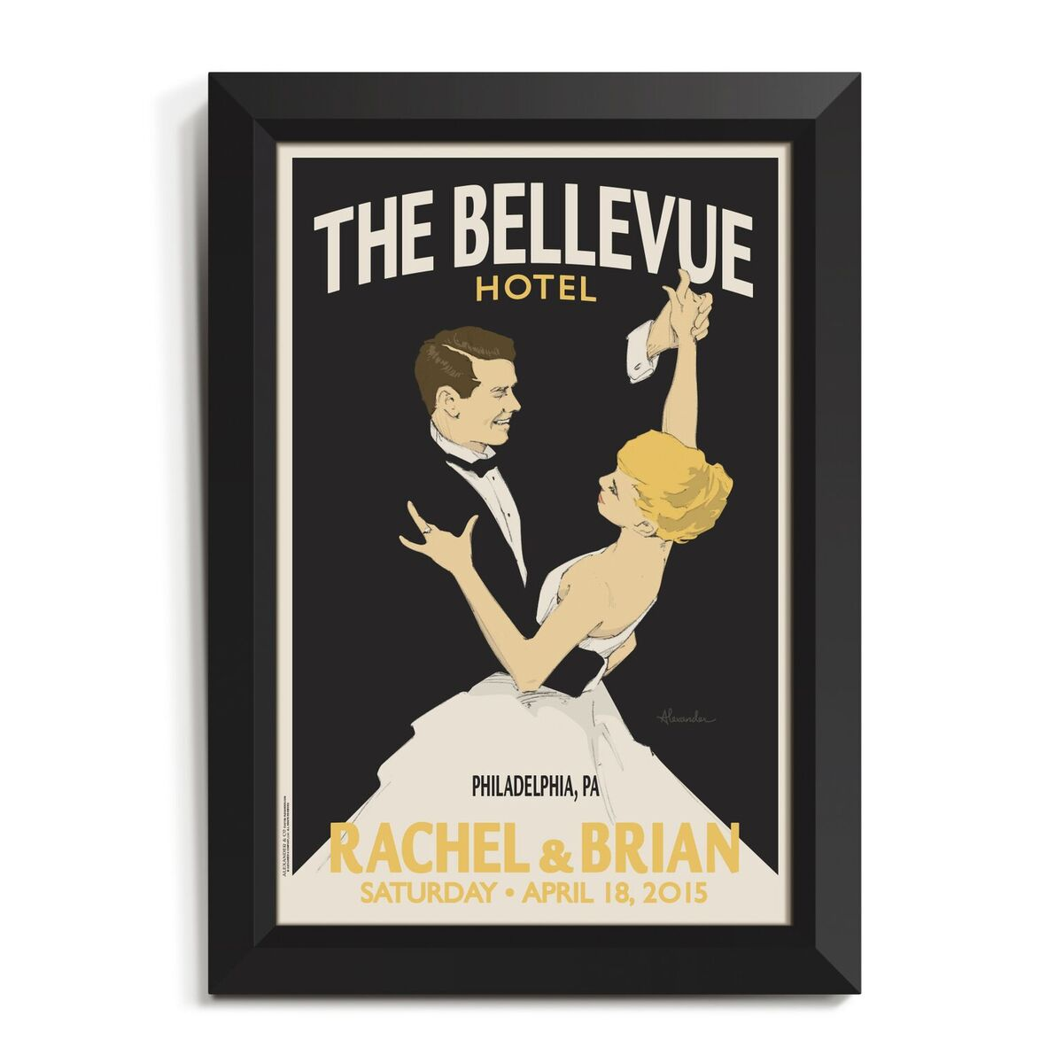 Wedding Waltz Personalized Art
