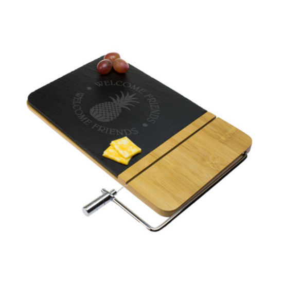 Welcome Friends Cheese Board with Slicer