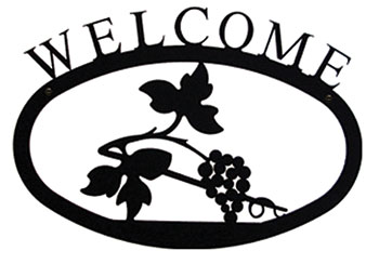 Grapevine Wrought Iron Welcome Sign