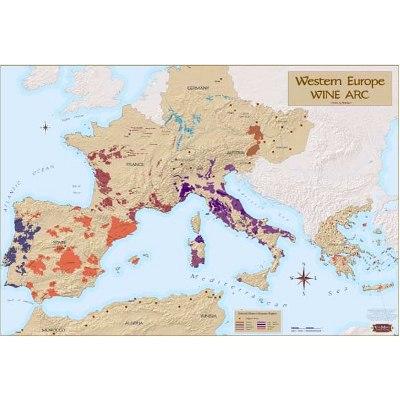 Western Europe Wine Map
