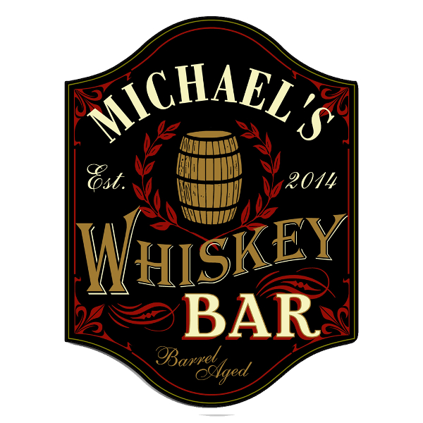 Whiskey Bar Personalized Sign
