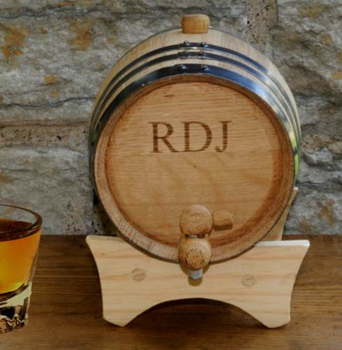 Personalized Whiskey Barrel - 2 liter Oak Barrel
