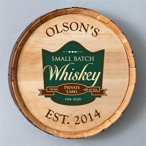 Whiskey Barrel Sign - Personalized