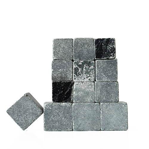 Sparq Soapstone Whiskey Rocks 13 Piece Set, Mix