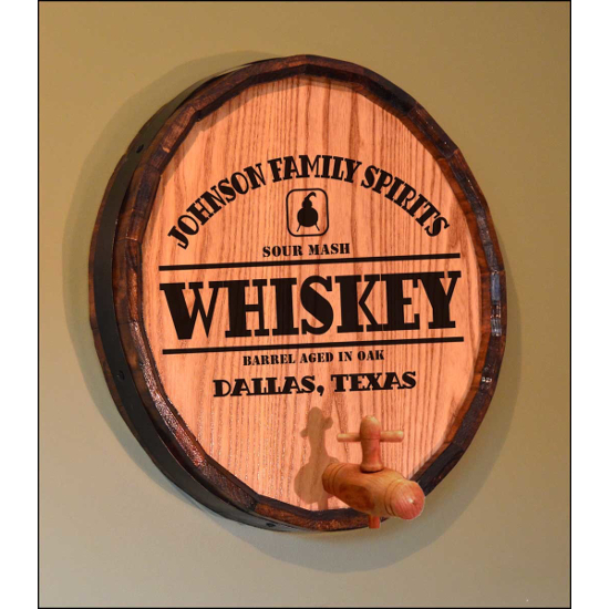 Personalized Whiskey Still Quarter Barrel Sign