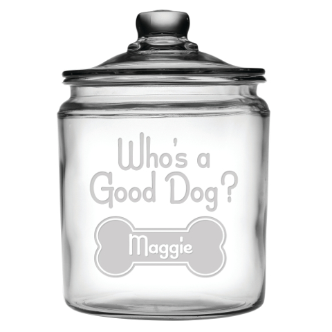 Who's A Good Dog Personalized Treats Jar