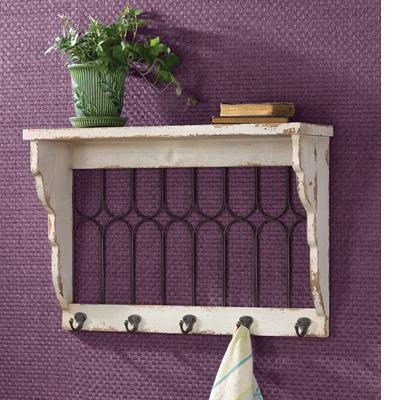 Window Pane Shelf - Aged Cream
