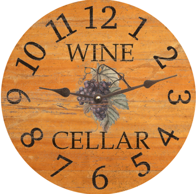 Personalized Wine Barrel Clock
