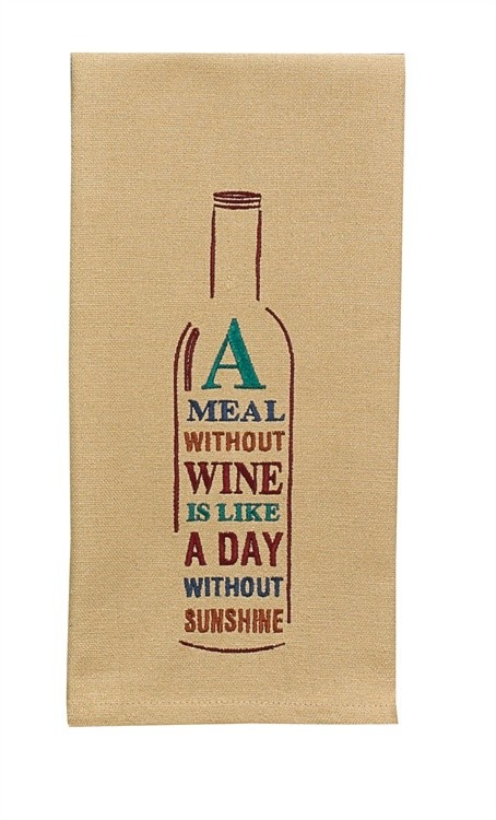 A Meal Without Wine Dishtowel