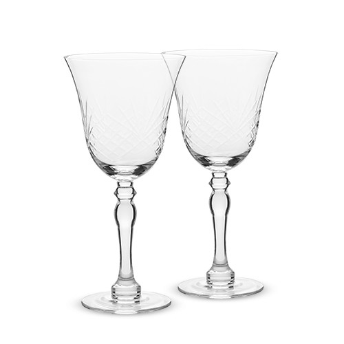 Chateau - Faceted Crystal Goblet