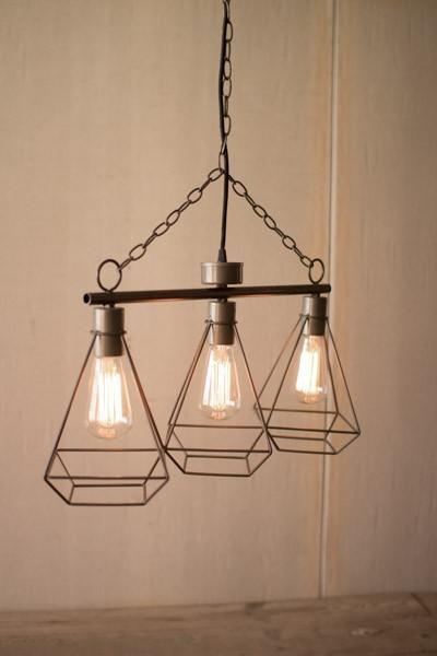 Hanging Three Light Pendant